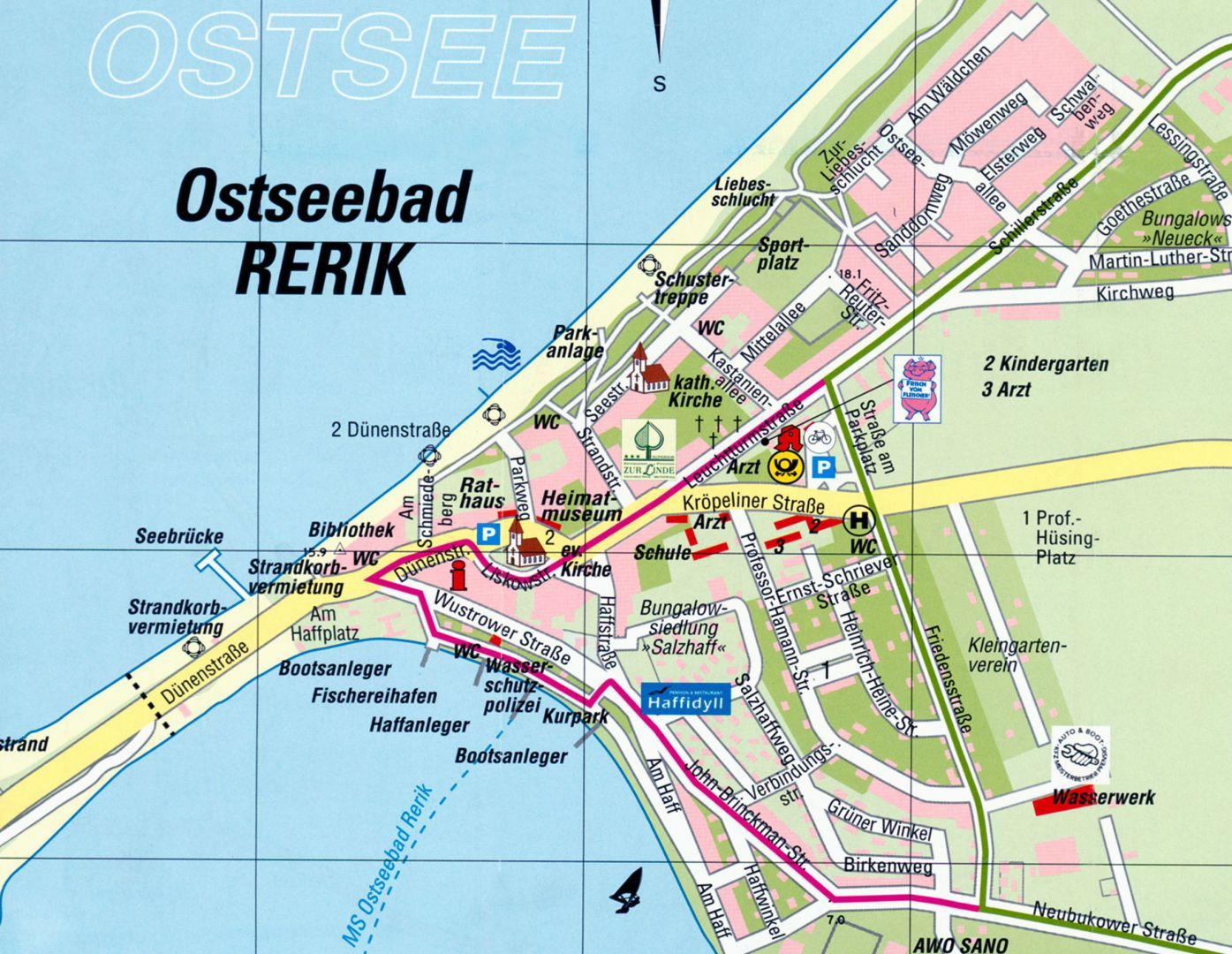 rerik karte Rerik Ostsee Karte   hanzeontwerpfabriek